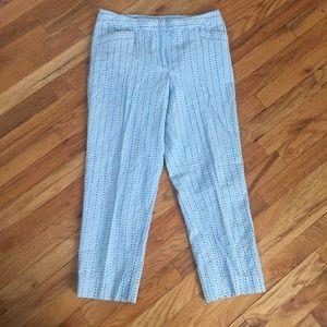 Ann Taylor LOFT Pinstripe Cotton Cropped Pants